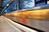 Train in motion — Stock Photo