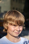 Young boy looking confident — Stock Photo