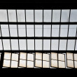 Trainstation in Wiesbaden, glass of roof gives beautiful harmonic pattern — Stock Photo #5660850