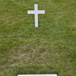Stock Photo: Modest tomb of Robert Kennedy in Arlington National Cemetery, Ar