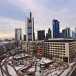 View to skyline of Frankfurt with Hauptwache and skyscraper — Stock Photo #5663591