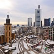 View to skyline of Frankfurt with Hauptwache and skyscraper — Stock Photo #5663602