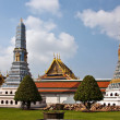 Famous Prangs in the Grand Palace in Bangkok - Stock Photo