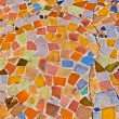 mosaic with tiles gives a beautiful colorful pattern — Stock Photo