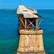 Old Railroad Bridge on the Bahia Honda Key in the Florida keys - Stock Photo