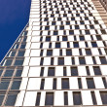 Windows of office buildings — Stock Photo