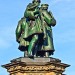 Statue of Johannes Gutenberg  in Frankfurt — Stock Photo