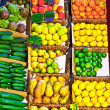 Fruit market Fresh healthy fruits and vegetables on the market — Stock Photo