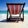 Chair at the beach — Stock Photo