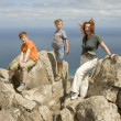 Family on top of mountain — Stock Photo #5668724