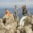 Stock Photo: Family on top of mountain