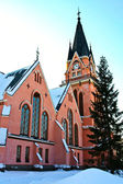 Beautiful wooden church in the town Kemi — Photo