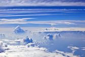 White cloud blue sky over the ocean — Stock Photo