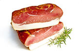 Fresh tasty ham in detail — Stock Photo