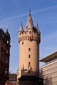 Famous Eschesheimer Turm in Frankfurt — Stock Photo