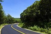 Beautiful scenic country road curves through Shenandoah Nationa — Stock Photo