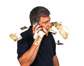 Man using the mobile — Stock Photo