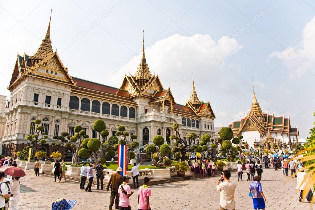 Chakri maha prasat in het grote paleis in bangkok ...