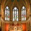Old french catholic church Saint John the baptist - Stock Photo