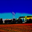 Buildings of an Industry Park in beautiful landscape — Stock Photo
