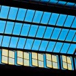 Trainstation in Wiesbaden, glass of roof gives a beautiful harmo — Photo
