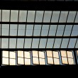 Trainstation in Wiesbaden, glass of roof gives a beautiful harmo — Foto Stock