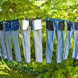 Trousers are drying — Stock Photo