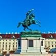 Monument archduke charles of Austria — Stock Photo