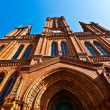 Famous Markt Kirche in Wiesbaden, a brick building in neo-Gothic — Stock Photo #5674361