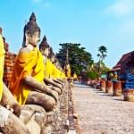 Beautiful statue of Buddhas in temple Wat Yai Chai Mongkol — Stock Photo #5677688