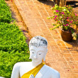 Beautiful statue of Buddhas in temple Wat Yai Chai Mongkol - Stock Photo