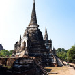 Famous temple area Wat Phra Si Sanphet, Royal Palace in Ajutthay — Stock Photo