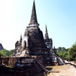 Famous temple area Wat Phra Si Sanphet, Royal Palace in Ajutthay — 图库照片
