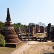 Famous temple area Wat Phra Si Sanphet, Royal Palace in Ajutthay — Stockfoto