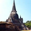 Famous temple area Wat Phra Si Sanphet, Royal Palace in Ajutthay — Stockfoto #5677723