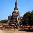 Famous temple area Wat Phra Si Sanphet, Royal Palace in Ajutthay - Stock Photo