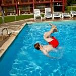 Child has fun in the pool — Stock Photo #5678756