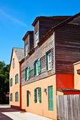 Vecchia casa storica e centro ssaint augustine — Foto Stock