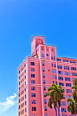 Beautiful historic buildings in Miami in the Art deco district — Stock Photo