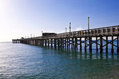 Wooden pier at miami beach — Stock Photo