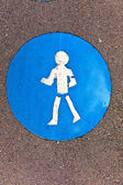 Symbol pro stáže a ikony pro chodce — Stock fotografie