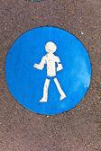 Symbool voor traject en pictogram voor voetgangers — Stockfoto