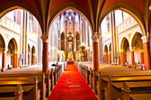 Famous gothic Markt Kirche from inside — Stock Photo