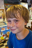 ダイナーの少年 — ストック写真