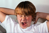 Portrait of cute boy with emotion — Stock Photo
