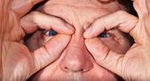 Bir adamın ayrıntılı — Stok fotoğraf