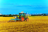 Small scale farming with tractor — Stockfoto