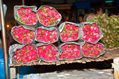 Roses offered at the flower market — Stock Photo