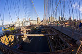 Brooklyn Bridge in New York — Стоковое фото
