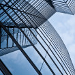 Glas front of the Uniqa tower in vienna with sky — Stock Photo